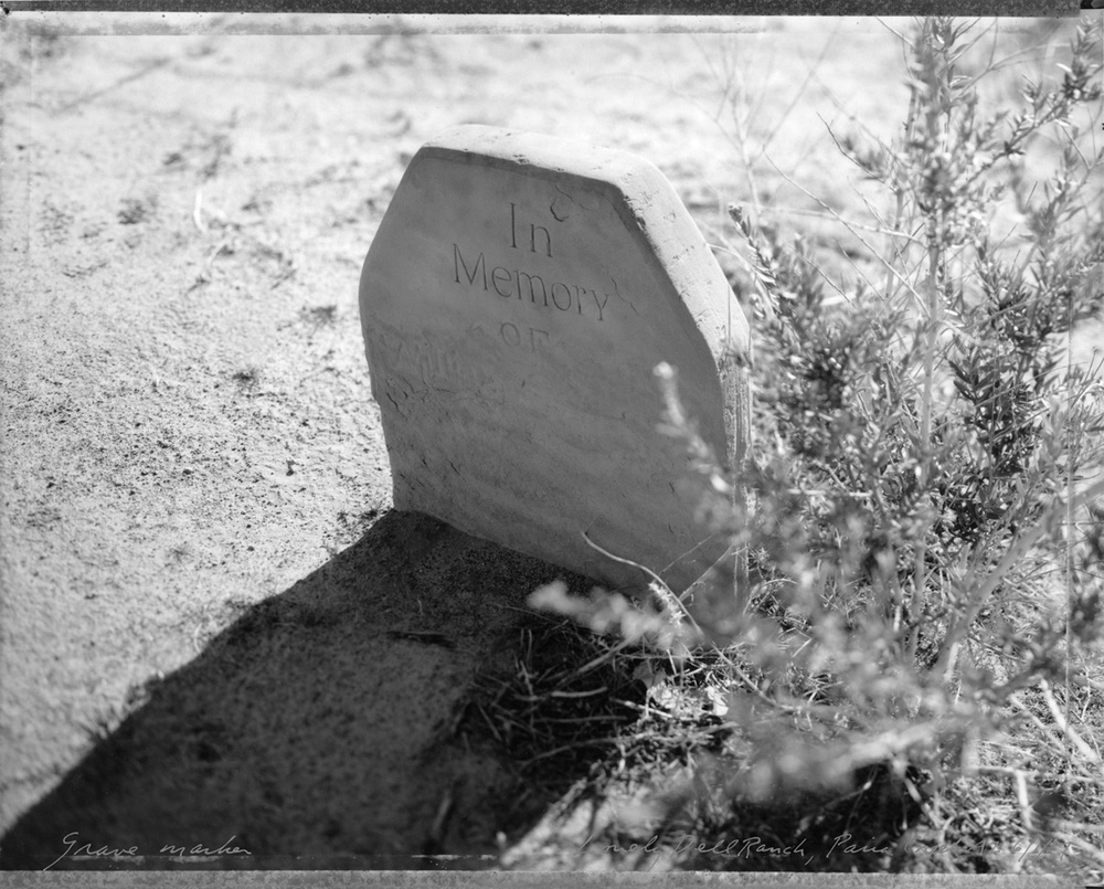 Grave Marker, Lonely Dell Ranch, Paria Creek, Arizona, 1987