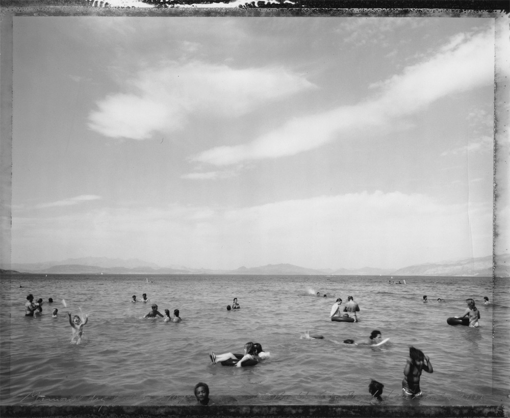 Memorial Day Bathers, 107°, Boulder City Beach, Lake Mead, Nevada, 1983