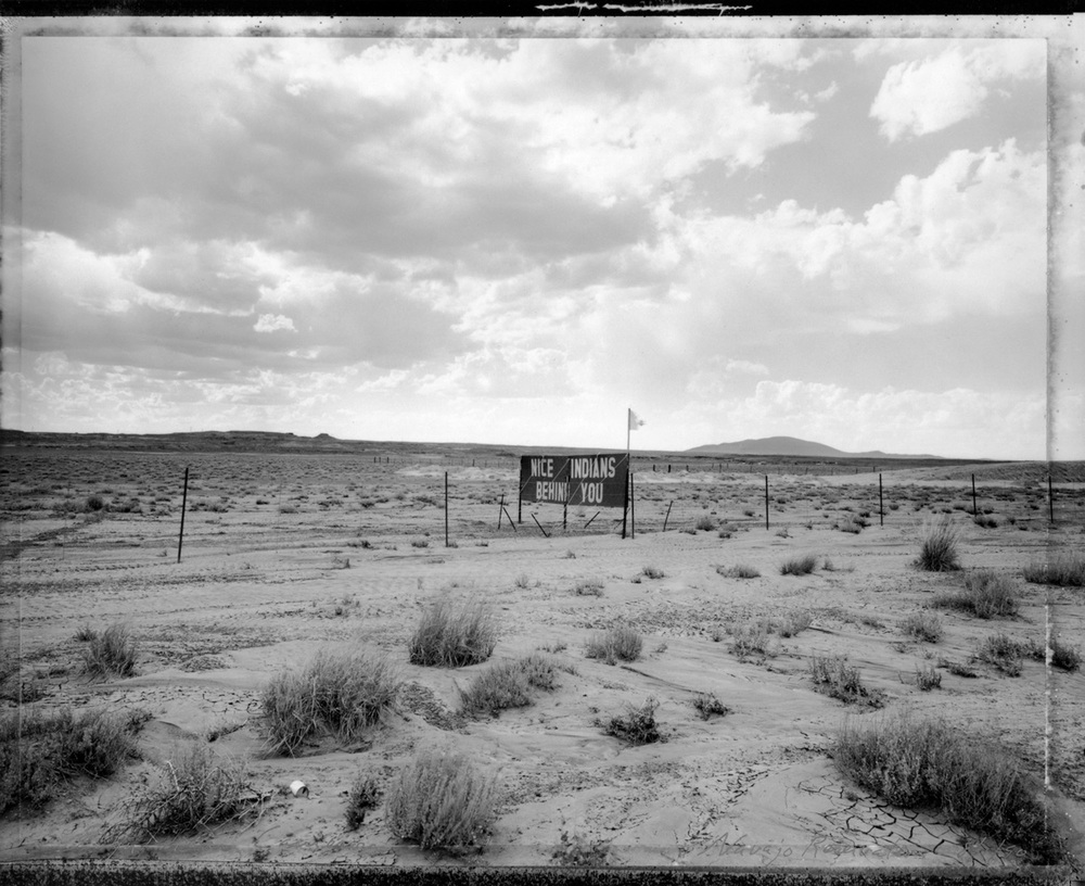 Sign near Cameron, Navajo Reservation, 1990