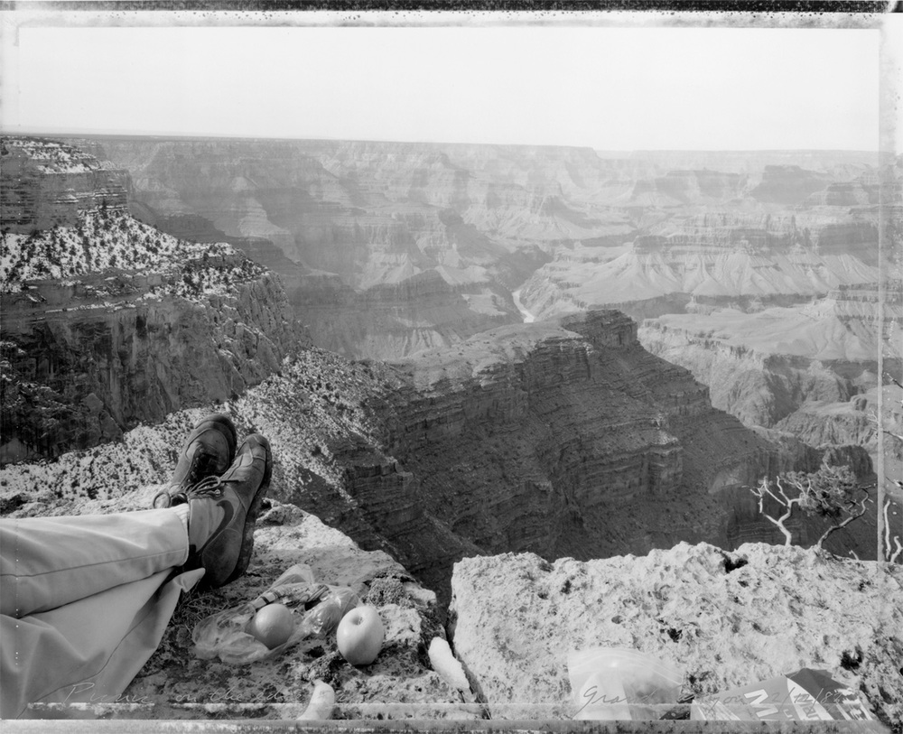 Picnic on the edge of the rim, Grand Canyon, 1983