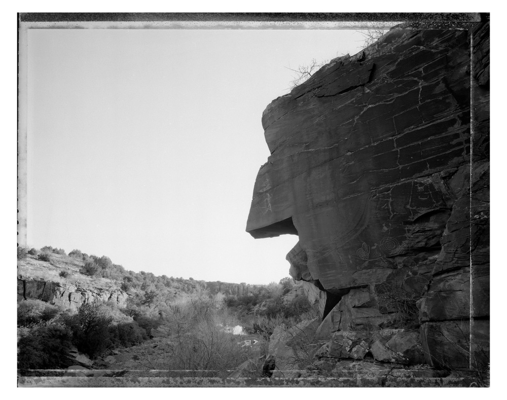 Rock face with petroglyphs, Red Rock Wash, AZ