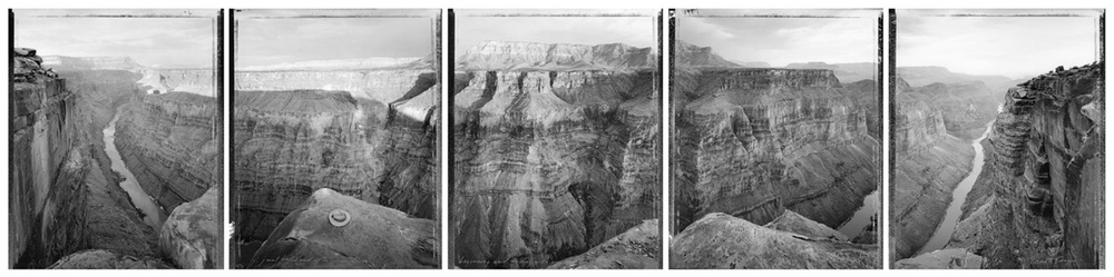 Around Toroweap Point, just before and after sundown, beginning and ending with views used by J.K. Hillers over one hundred years earlier, Grand Canyon, 1986