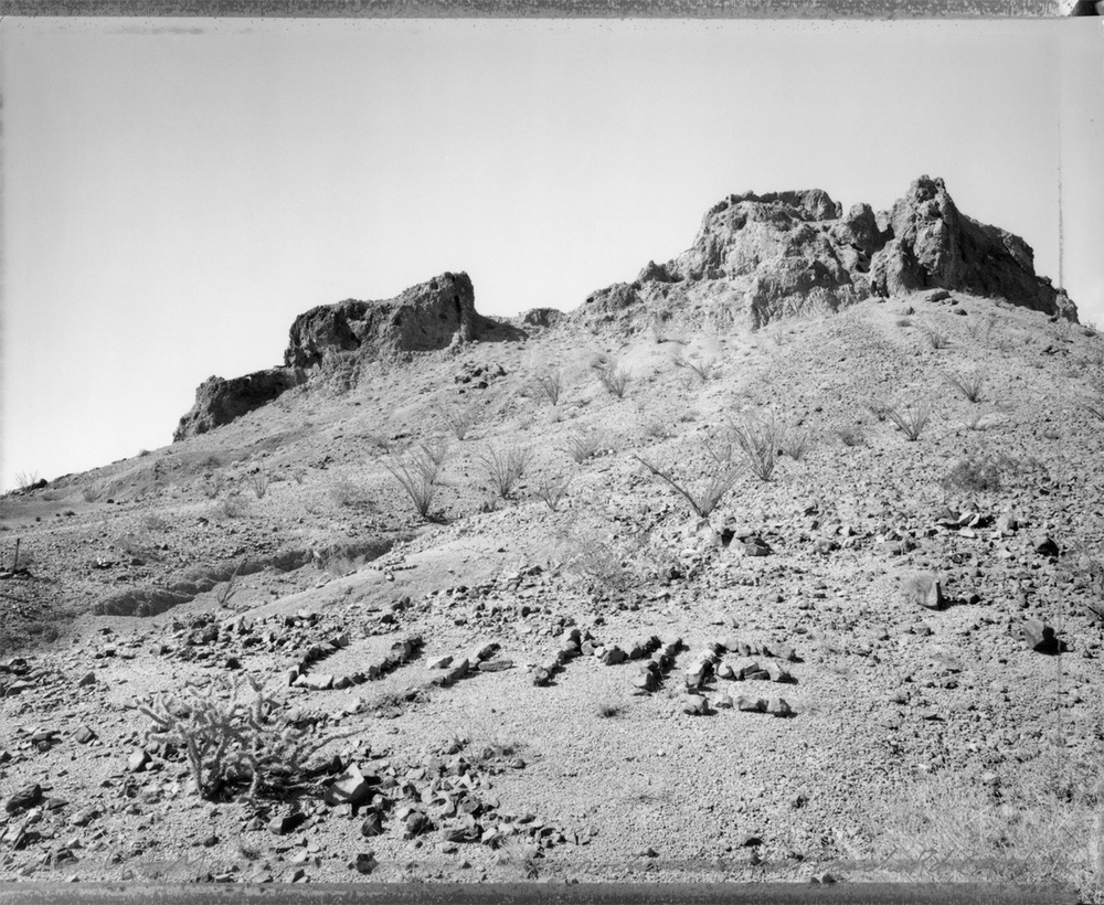 """U + Me,"" rocks along the Picacho Road, California, 1985"