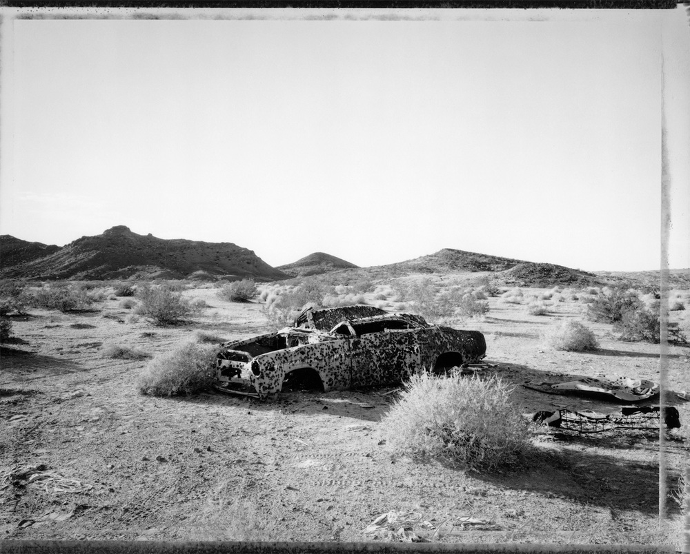 Ventilated sedan, east of Parker, Arizona, 1986