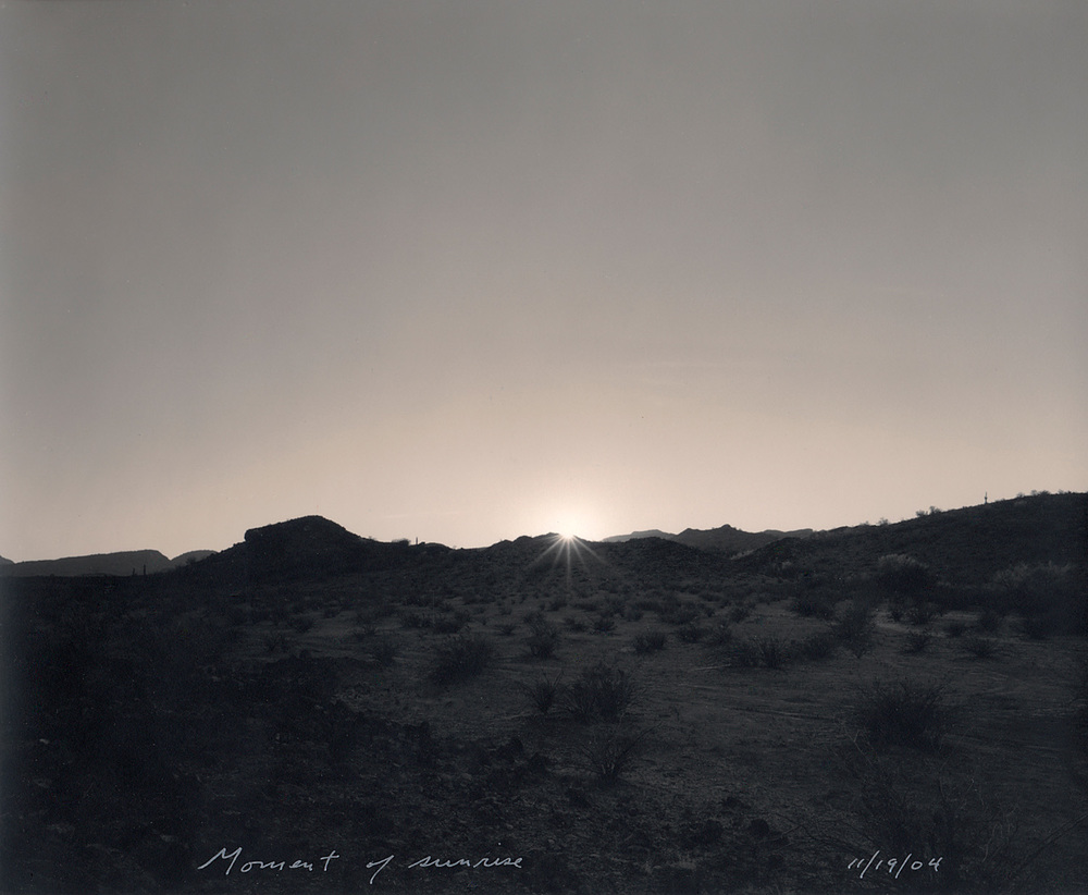 Moment of sunrise, 2004
