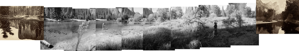 Panorama of a ghost river, made over 100 meters and two days beginning and ending with Muybridge's mammoth plates No. 11 and No. 12