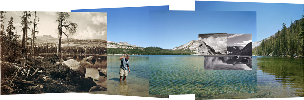 Four views from four times and one shoreline, Lake Tenaya, 2002