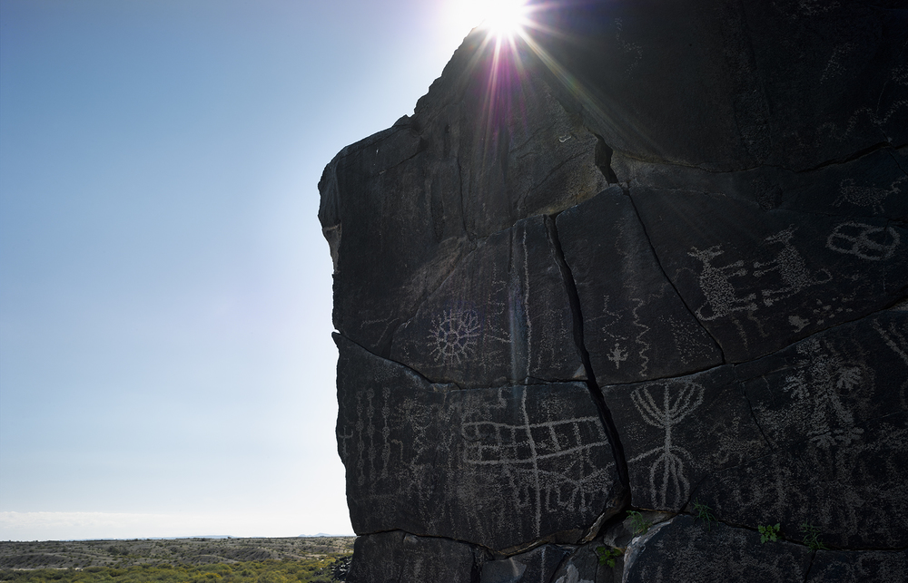 Petroglyphs near Sears Point, Gila River, 2014