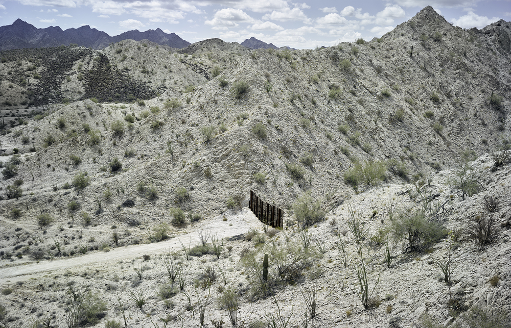 Border fence separating the United States and Mexico, 2015