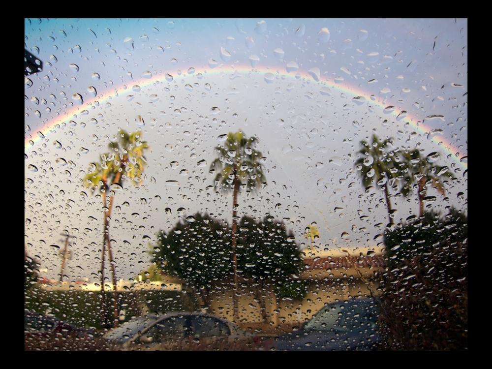 Windshield rainbow