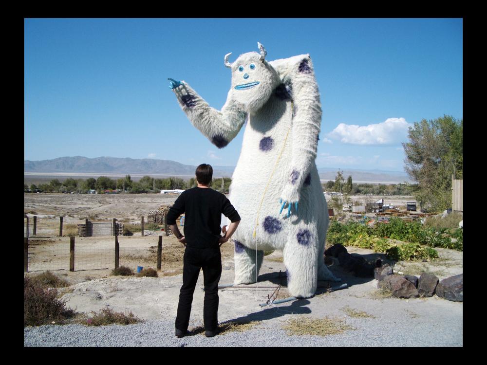 Curious statue, Nevada