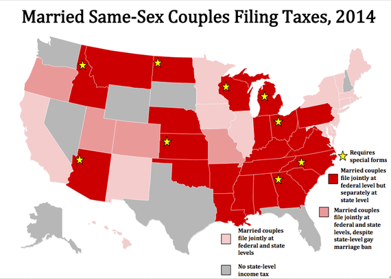 A Tax Nightmare For Gay Couples Zach Dombroski Realty - Same sex marriage us map