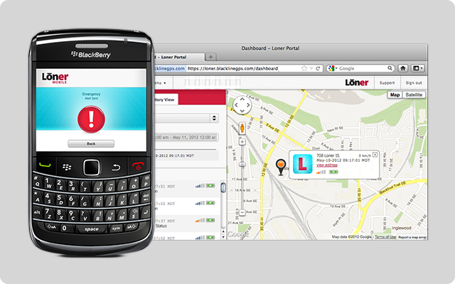 Start Monitoring page on Blackberry, web browser app