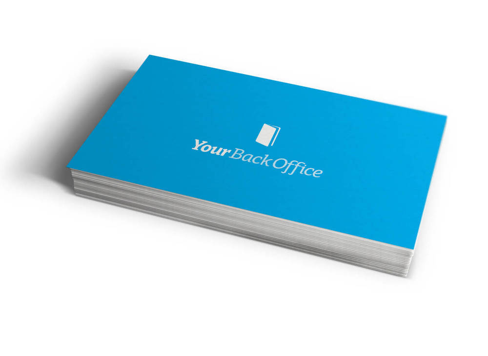Business cards for Your Back Office - www.yourbackoffice.co.nz