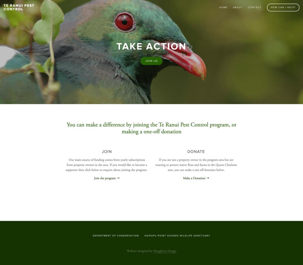Te Ranui Pest Control - Take Action page