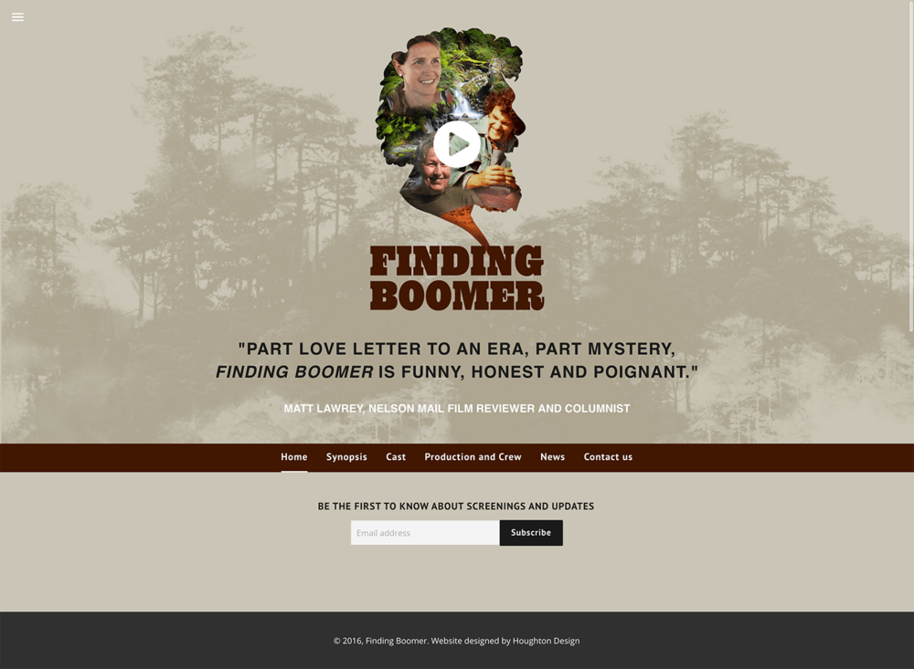 Finding Boomer Film - Front page
