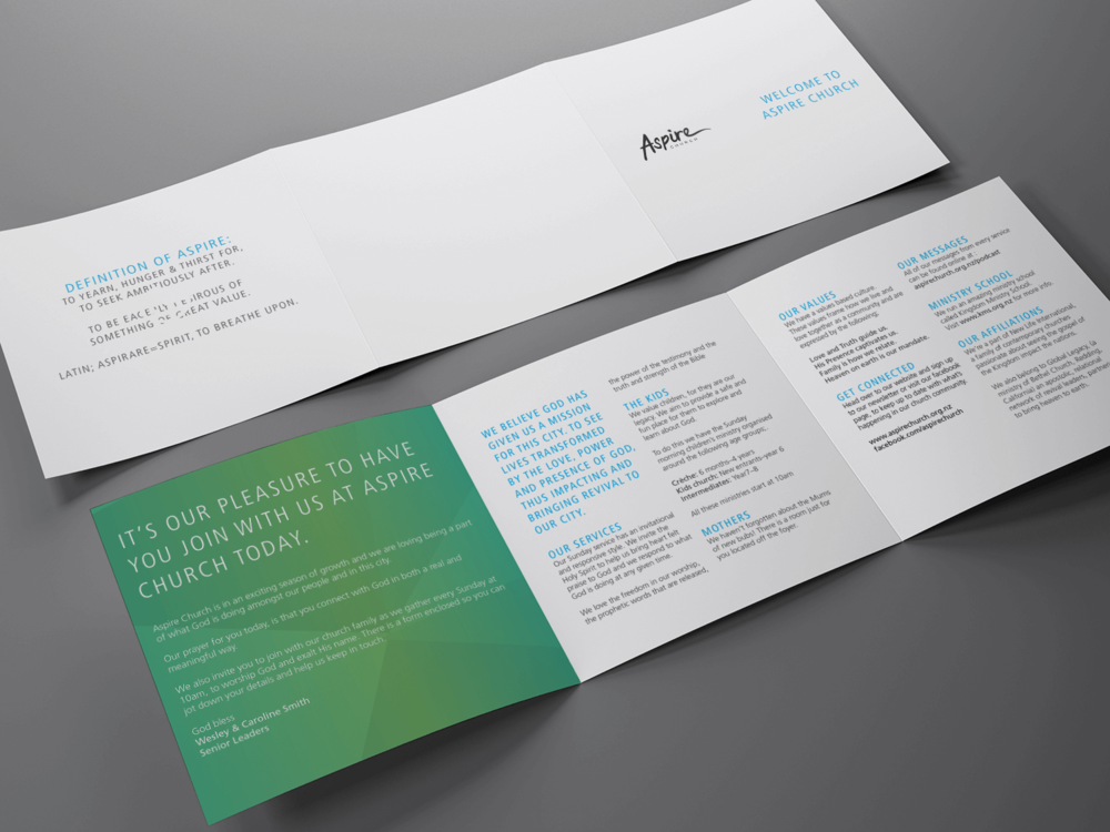 Aspire Church - Welcome brochure