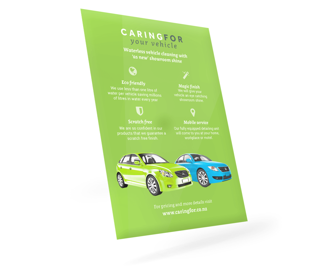 Caring For You Vehicle - Flyer