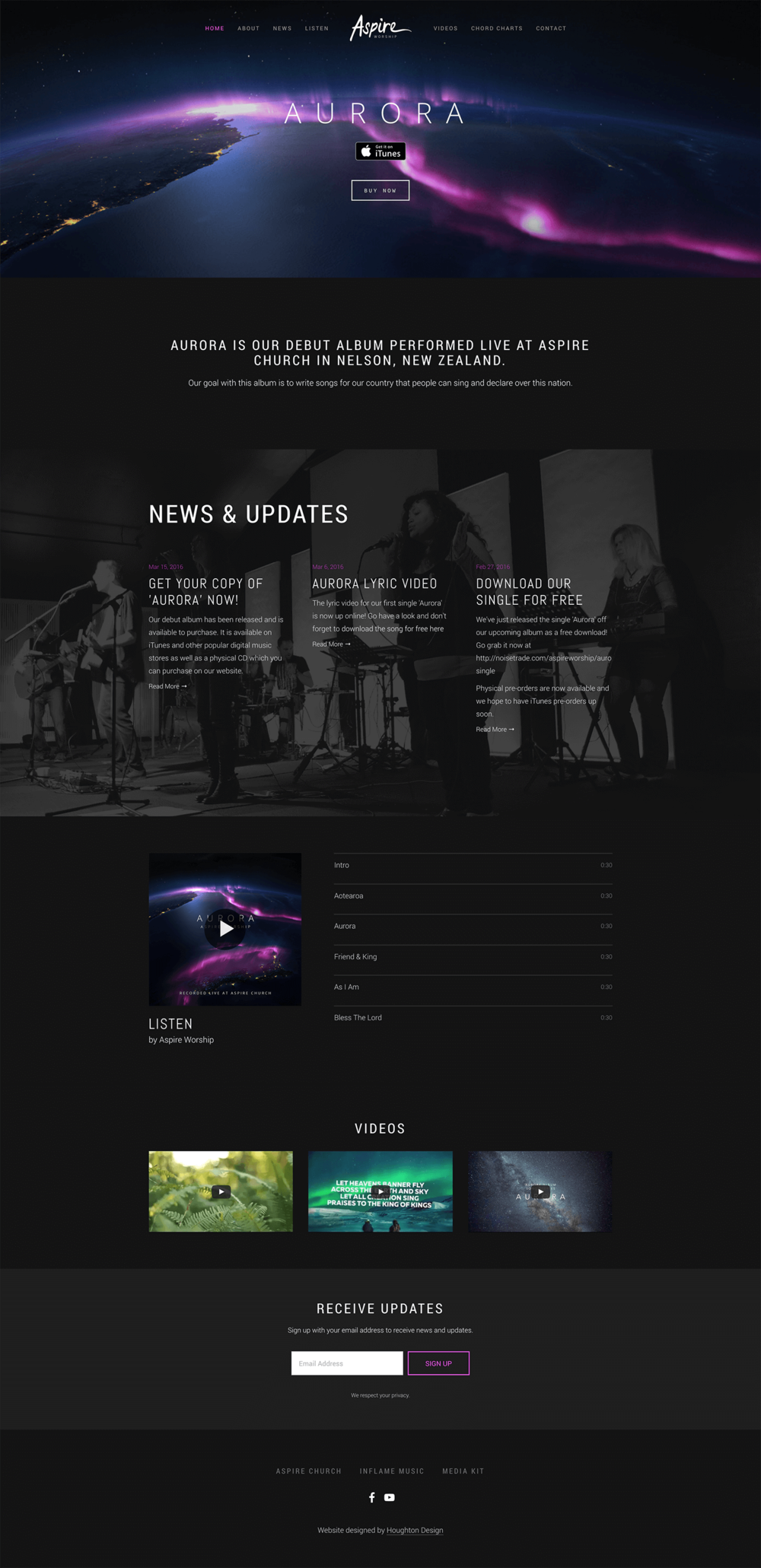 Aspire Worship - Front Page