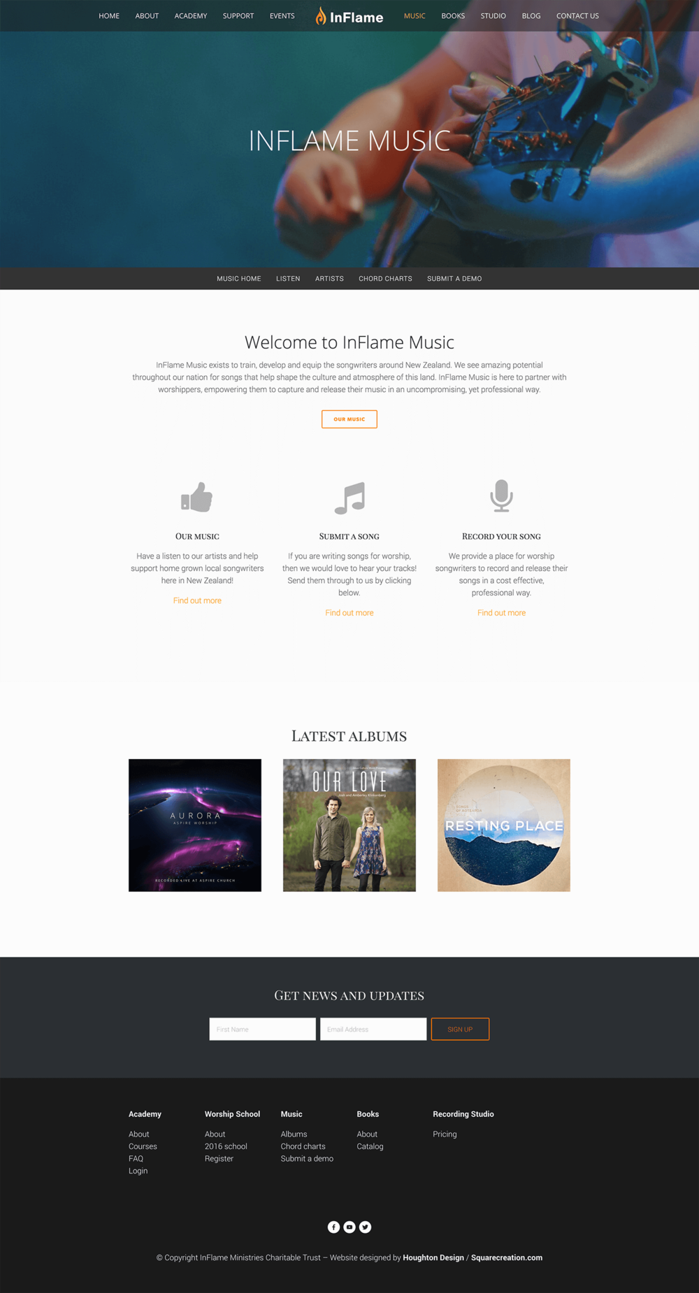 InFlame Ministries - Music page