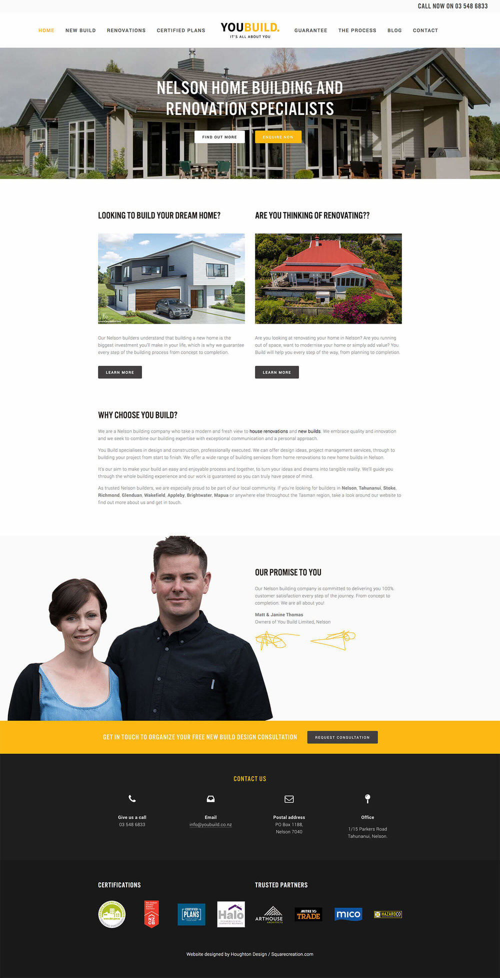 youbuild.co.nz home page