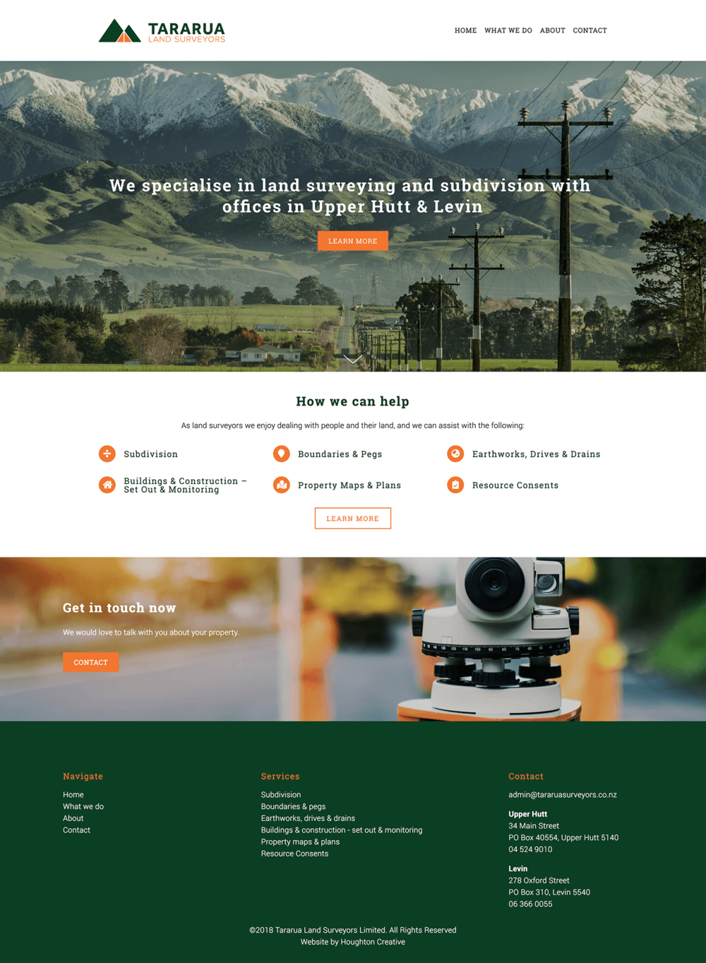 Home page - Tararua Land Surveyors