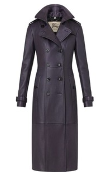 Burberry Leather Trench, $3995.00