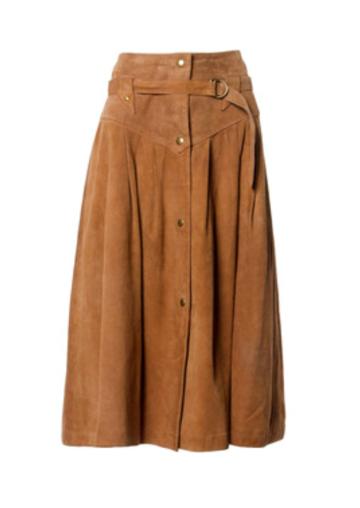 Vintage leather skirt, $750.00