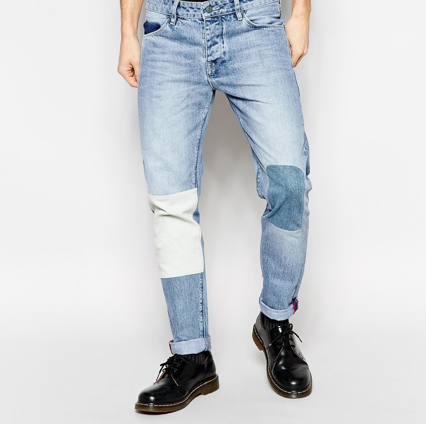 Jeans with patches, $62.70