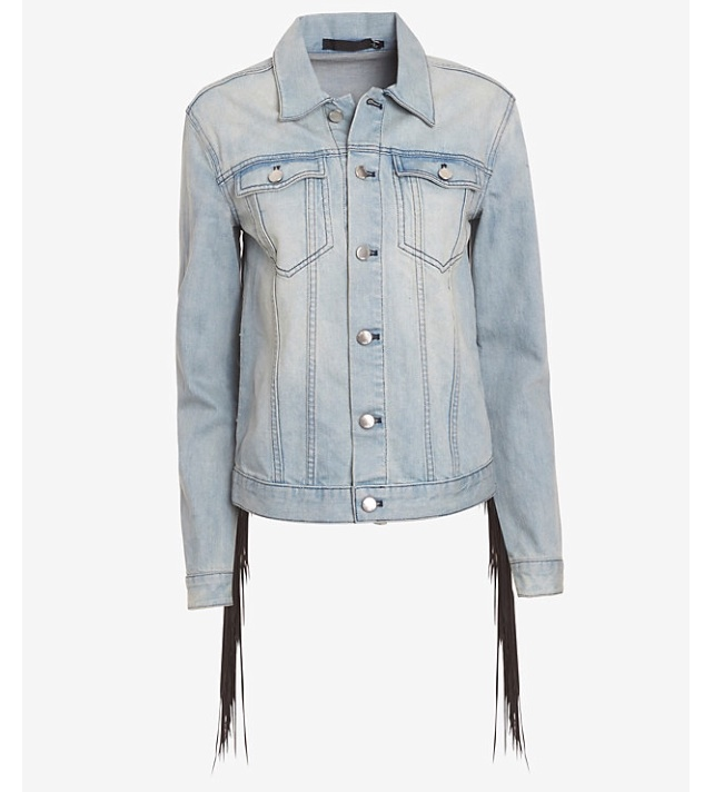 fringe jean jacket