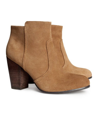 H&M suede boots, $59.95