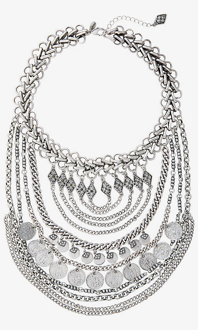 Express coin chain neclace, $49.95