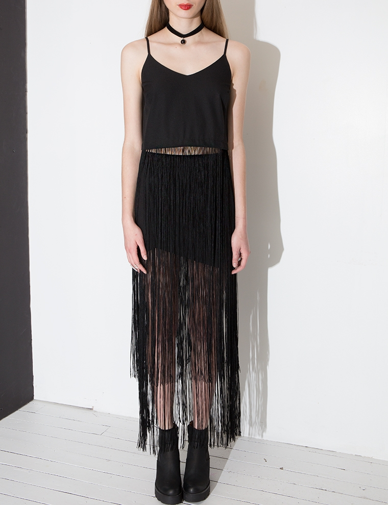 Fringe Skirt, $44