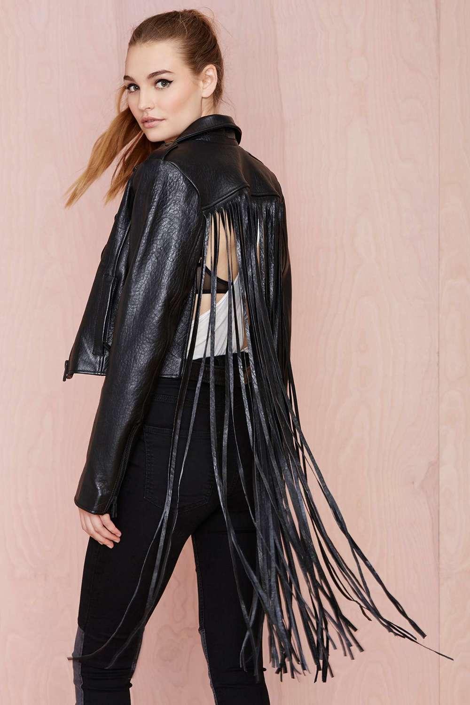 Misfit fringe jacket, $245