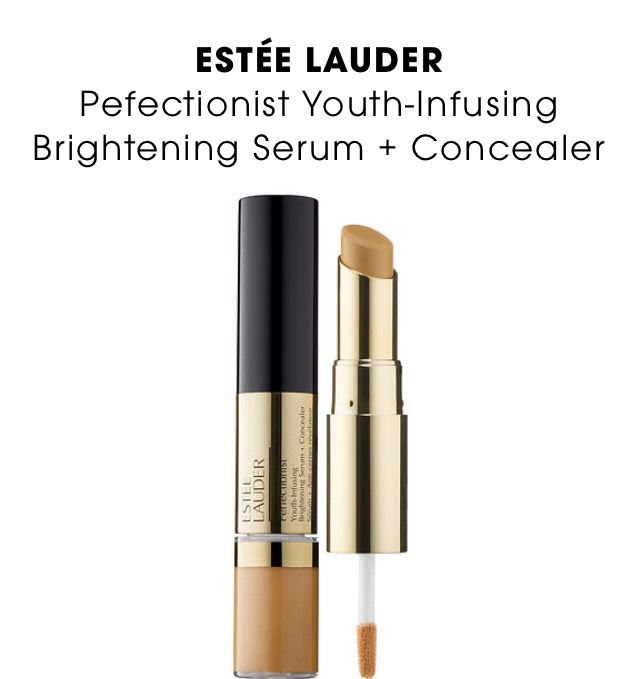 What it is: A dual-ended, multitasking brightening serum and concealer for the eyes that corrects, conceals, and transforms. What it does: This duo for eyes features a serum at one end and a concealer at the other. The Perfectionist Youth-Infusing Brightening Serum Concealer dramatically smooths the appearance of fine lines and reveals youthful-looking skin. Color-correcting optics neutralize uneven skintone and brighten shadowy areas, and moisture levels improve so that the result is skin that appears firmer with lines and wrinkles that look minimized. The long-wearing, hydrating concealer helps to reduce the look of imperfections so dark circles, spots, redness, and blemishes seem to fade. Available at Sephora.com, $34.00