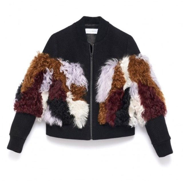 4.The Fall it jacket this season is the shearling. As seen in the Maxmara and Burberry Fall 2015 Runways, this season get wrapped up in a luxurious Shearling!  Wool and shearling bomber, Loefflerrandall.com