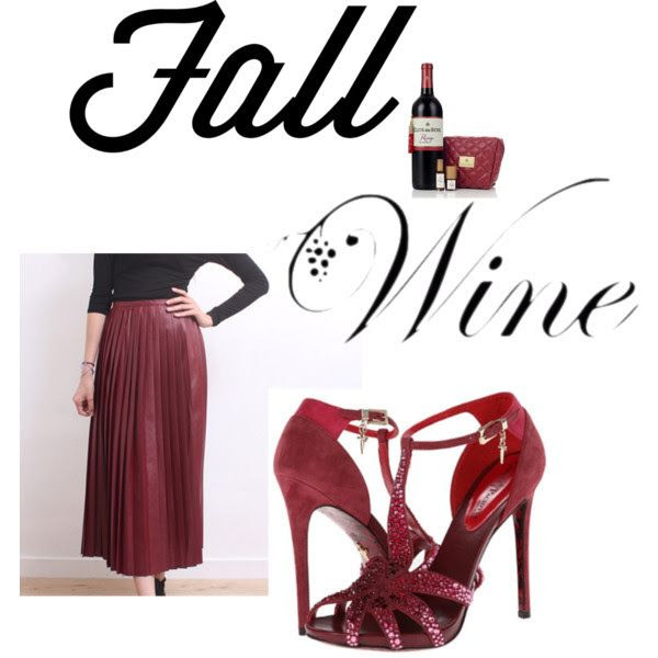 """Summer is coming to an end and its time to welcome Fall's new trends. The fall color we are loving this new season will be a light burgundy red, or as we like to call it the """"fine wine color"""". This is the perfect color to sport this fall!Wine High Waisted Skirt"""