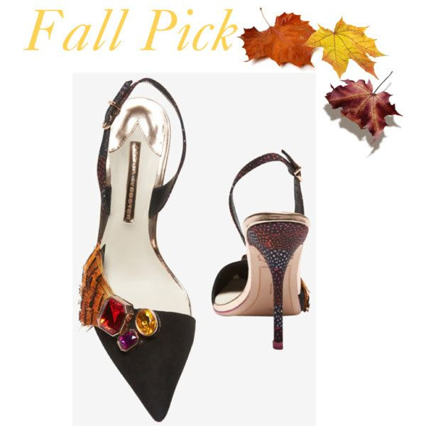 How can you not fall in love? These are perfect this Fall, new from Sophia Webster. Slingback Gem/Feather Suede Pump available at Intermixonline.com