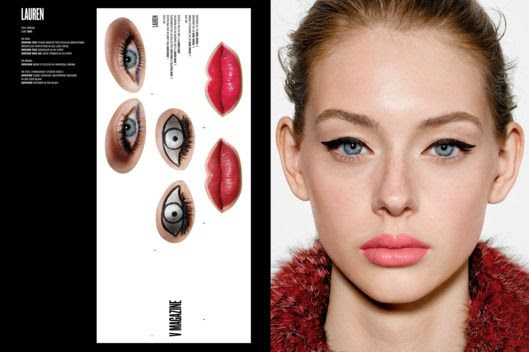 In September's fall issue of Vmagazine the creative and image director of Christian Dior, Peter Philips came up with the creative idea to test out Dior's newest cosmetic collection. In this interactive advertising campaign you will find portrait- style photographs of models who were shot with minimal makeup along with customized stickers to create different makeup looks. Whether you want a bold cat eye or a pouty lip, stickers are reusable so you can mix and match to find the winning lip-and-eye combination. It's a fun way to try something new before actually buying it. To learn more about the collection you can visit Dior.com