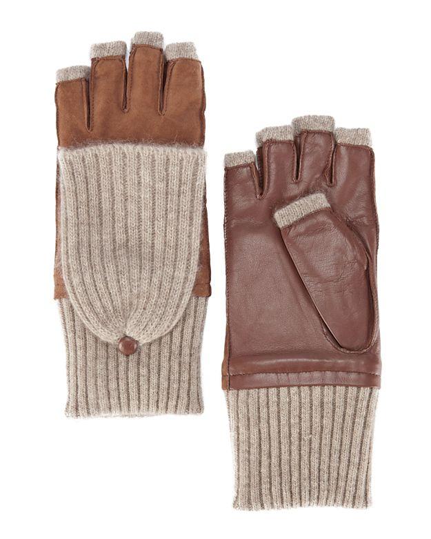 Carolina Amato Pop Top Fingerless Gloves