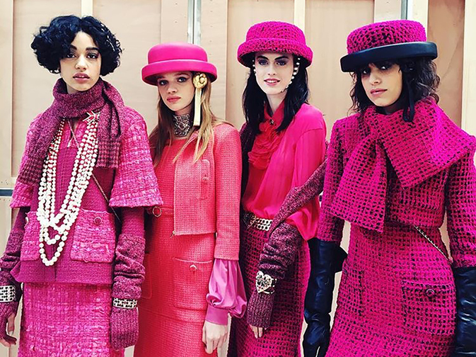 Raspberry, candy, fuchsia or magenta, pink comes in many vivid tones in the Fall‑Winter 2016/17 collection.