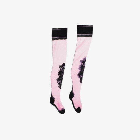 EXPAND Nicolas Messina embroidered stockings