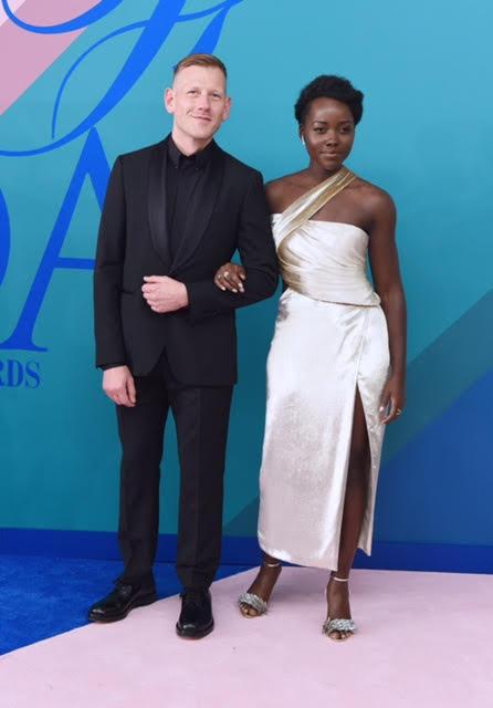 Paul Andrew and Lupita Nyong'o wearing Jason Wu.