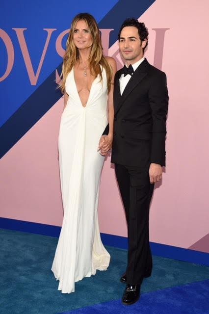 Zac Posen and Heidi Klum wearing Zac Posen and Lorraine Schwartz jewelry.