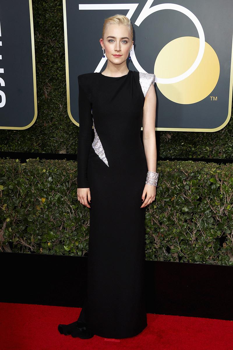 Saoirse Ronan wearing Atelier Versace.