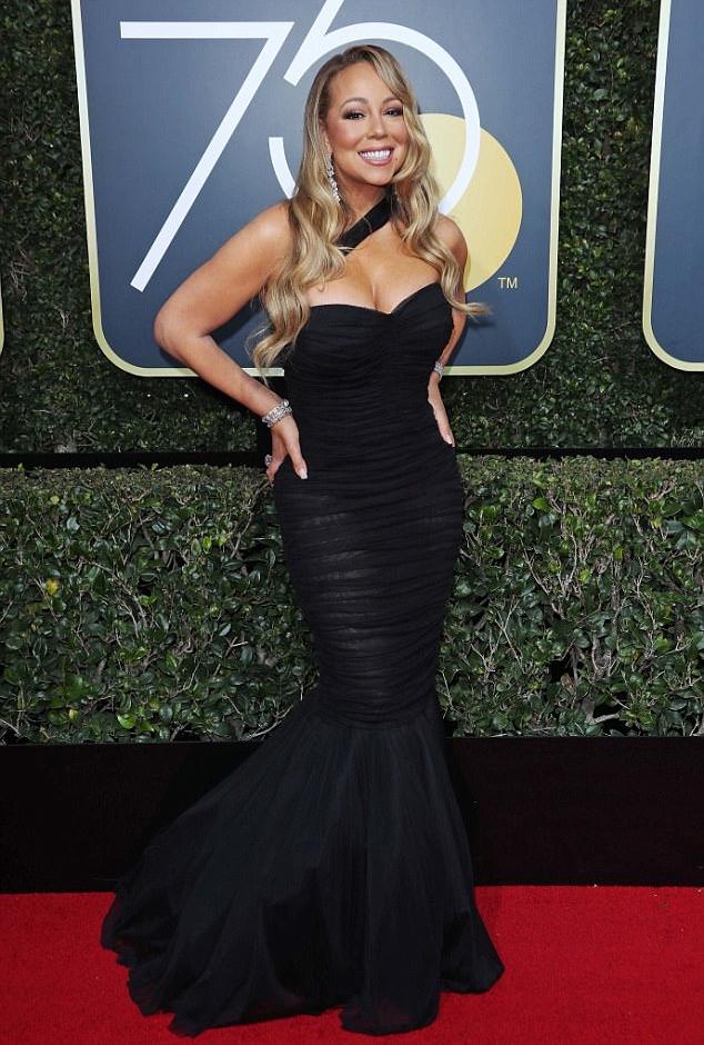Mariah Carey wearing Dolce & Gabbana.
