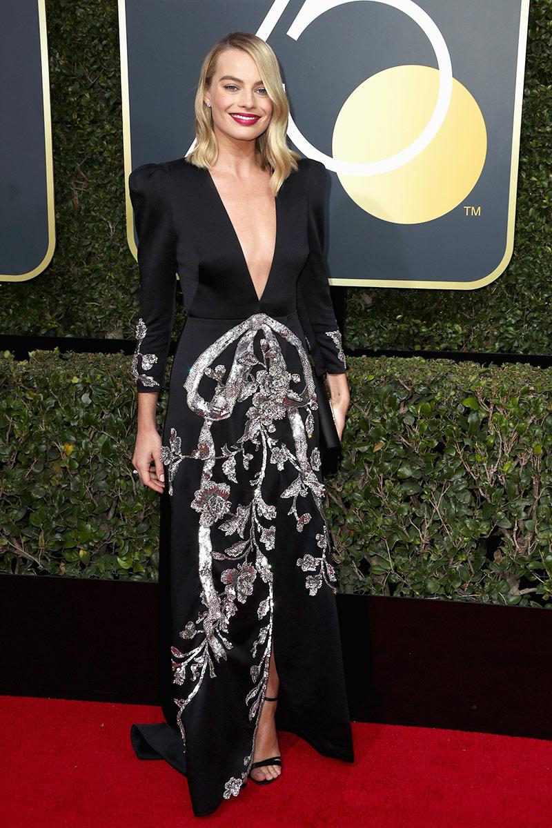 Margot Robbie wearing Gucci.
