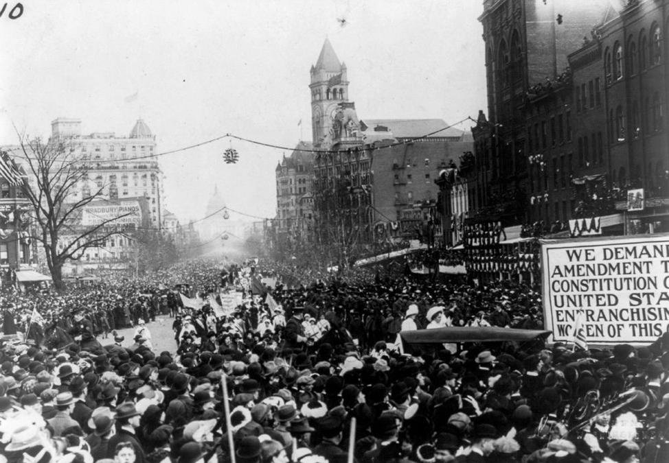 Suffrage Parade: March 3, 1913 (via Library of Congress)