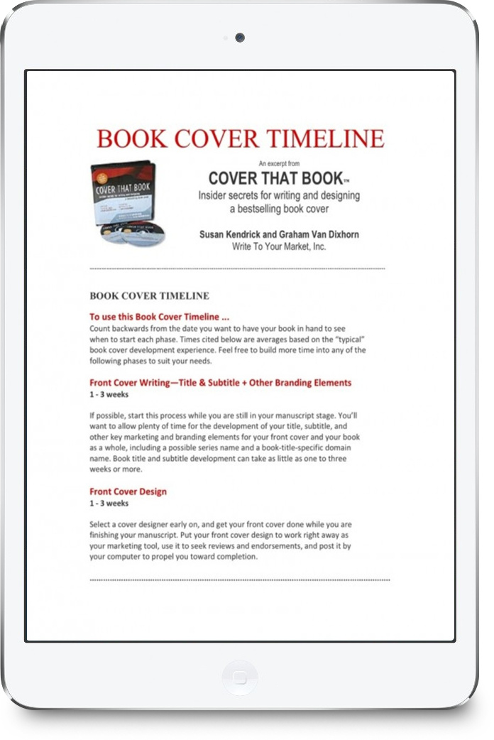 From COVER THAT BOOK: Insider Secrets for Writing & Designing a Bestselling Book cover