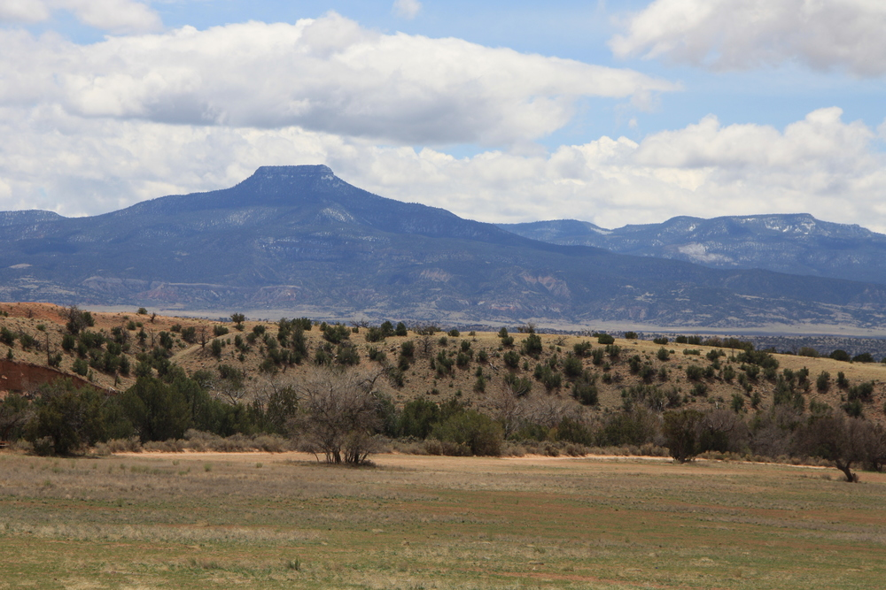 "Pedernal, ""OKeeffe's Mountain"", as seen from Ghost Ranch."